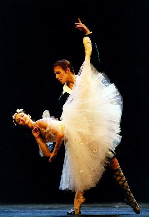 Alina Cojocaru și Johan Kobborg în La Sylphide