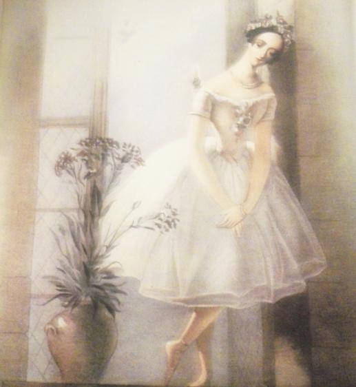 "Marie Taglioni, ""La Sylphide"", 1832, litografie de J. S. Templeton"